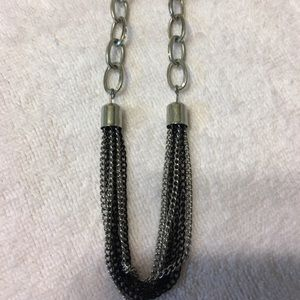 Jewelry - Silver and black necklace